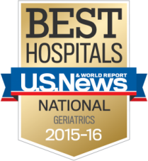 U.S. News & World Report national badge for geriatrics
