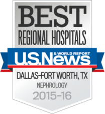 U.S. News & World Report Best Regional Hospitals badge for Nephrology care