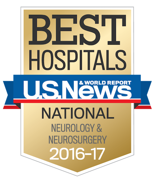 U.S. News & World Report Best Regional Hospitals for Neurology and Neurosurgery, 20116-2017
