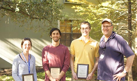 Three finalists for the Sara and Frank McKnight Undergraduate Prize in Biophysics