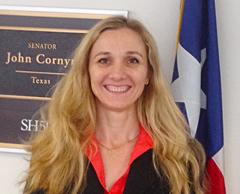 Timea Hodics, M D , advocates for fair compensation for