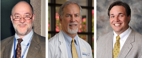 (L-R) Dr. Dennis Burns, M.D., Former Course Co-Director; Dr. Steve Cannon, Course Director; Dr. Benjamin Greenberg, Course Co-Director