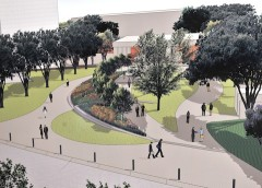 Rendering of the Dr. Donald Seldin Plaza
