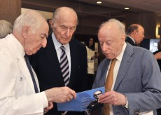 Drs. Eugene Frenkel, Donald Seldin, and Joseph Goldstein