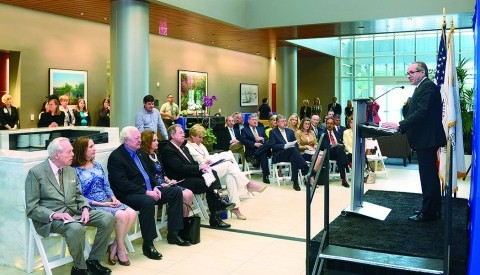 Dr. Daniel K. Podolsky announced the opening of the Harold C. Simmons Comprehensive Cancer Center Fort Worth, a satellite facility at the Moncrief Cancer Institute.
