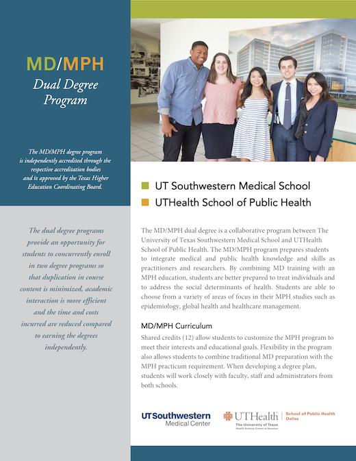 M D /M P H  Degree Program: Combined Degrees - UT