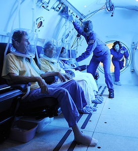 Subjects in low-pressure chamber