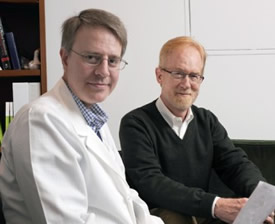 Dr. Richard Dewey (left) and Dr. Dwight German