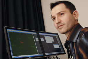 "Dr. Gürol Süel, assistant professor of pharmacology, was among the investigators who discovered that biochemical ""noise"" is beneficial, helping cells transform from one state to another. His research suggests that rather than being bad for biology, cellular noise might have an important function, such as prompting stem cells to transform into a specific tissue type."
