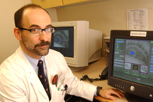Dr. Elliot Frohman, professor of neurology and ophthalmology, led research demonstrating that as body temperature rises in people with multiple sclerosis, the severity of an eye-movement disorder called INO, or internuclear ophthalmoparesis, also increases.