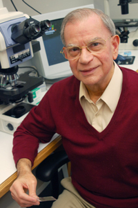 Dr. Adi Gazdar, professor of pathology, helped analyze genetic mechanisms that cause non-small cell lung cancer while investigating why East Asians respond better than other ethnic groups to a certain type of chemotherapy.