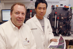 Drs. Philipp Scherer (left) and Zhao Wang.