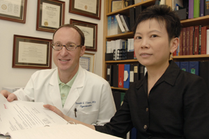 Drs. Ron Victor and Wanpen Vongpatanasin published a study on a treatment for counteracting effects of cocaine in the <em>Journal of the American College of Cardiology.</em>