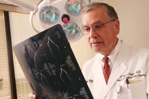 A vascular surgical technique pioneered by Dr. G. Patrick Clagett that replaces infected aortic grafts with the body's own veins has proved more durable and less prone to new infection than procedures using synthetic and cadaver grafts.