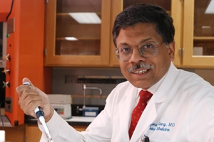 Dr. Abhimanyu Garg, professor of internal medicine and an investigator in the Center for Human Nutrition at UT Southwestern