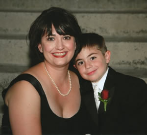 Jennifer Jablon, here with son Ryan, underwent a new reconstructive microsurgery after mastectomy.