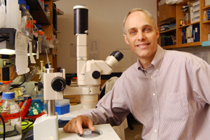 Dr. David Mangelsdorf is leading research of a biochemical system that could interrupt the development and reproduction of several parasitic organisms, including hookworm. Worm infections afflict a third of the world's population.