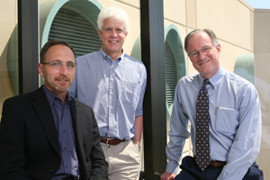 From left, Drs. Jay Schneider, Eric Olson and Joseph Hill and  have been awarded a $2 million grant from the American Heart Association to study the development and mechanisms of generating new cardiac muscle cells.