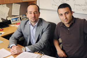 Dr. Roberto Coppari (left) and Dr. Giorgio Ramadori found that the presence of SIRT1 in specific neurons may help maintain normal body weight.