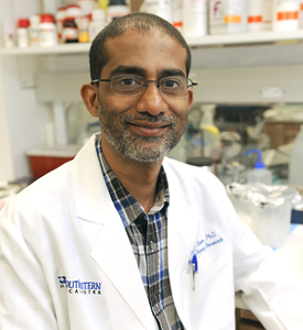 Dr. Sandeep Burma, Associate Professor of Radiation Oncology in the division of Molecular Radiation Biology