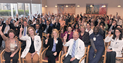 Staff and faculty of the UT Southwestern's Robert D. Rogers Advanced Comprehensive Stroke Center