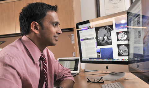 Dr. Amit Singal, Assistant Professor of Internal Medicine and Clinical Sciences, and medical director of the Liver Tumor Clinic in the Harold C. Simmons Cancer Center