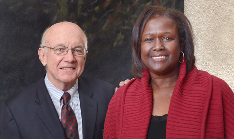 Shirley Miller with Dr. George Buchanan
