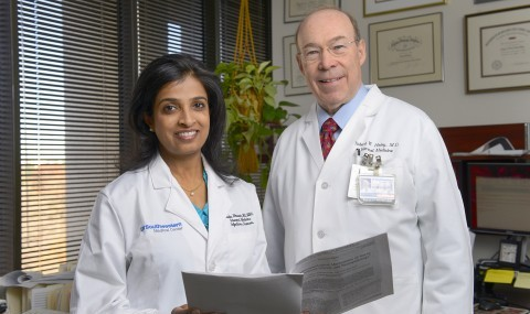 (l-r) Drs. Kavita Bhavan and Robert Haley