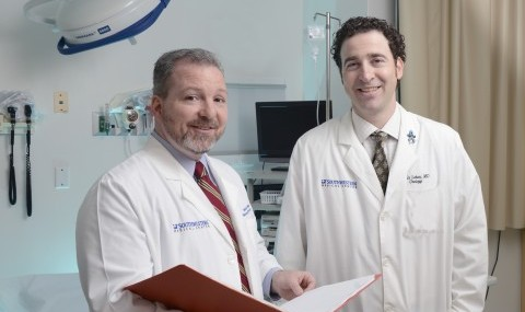 Radiation oncologist Dr. Michael Folkert and Urologist Dr. Yair Lotan investigating whether an injectable gel can reduce potential side effects from stereotactic ablative radiotherapy for prostate cancer.