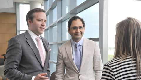 Dr. Nicholas Haddock, Assistant Professor of Plastic Surgery, left, and Dr. Sumeet S. Teotia, Associate Professor of Plastic Surgery, developed an innovative microsurgery technique for reconstructing the breast after mastectomy.