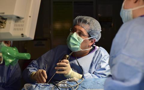 An endoscopic surgery