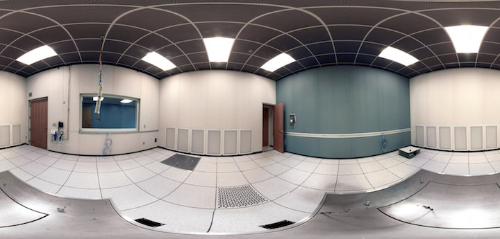 Panorama image of empty room