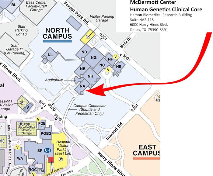 About Our Location: Human Genetics Clinical Laboratory   UT