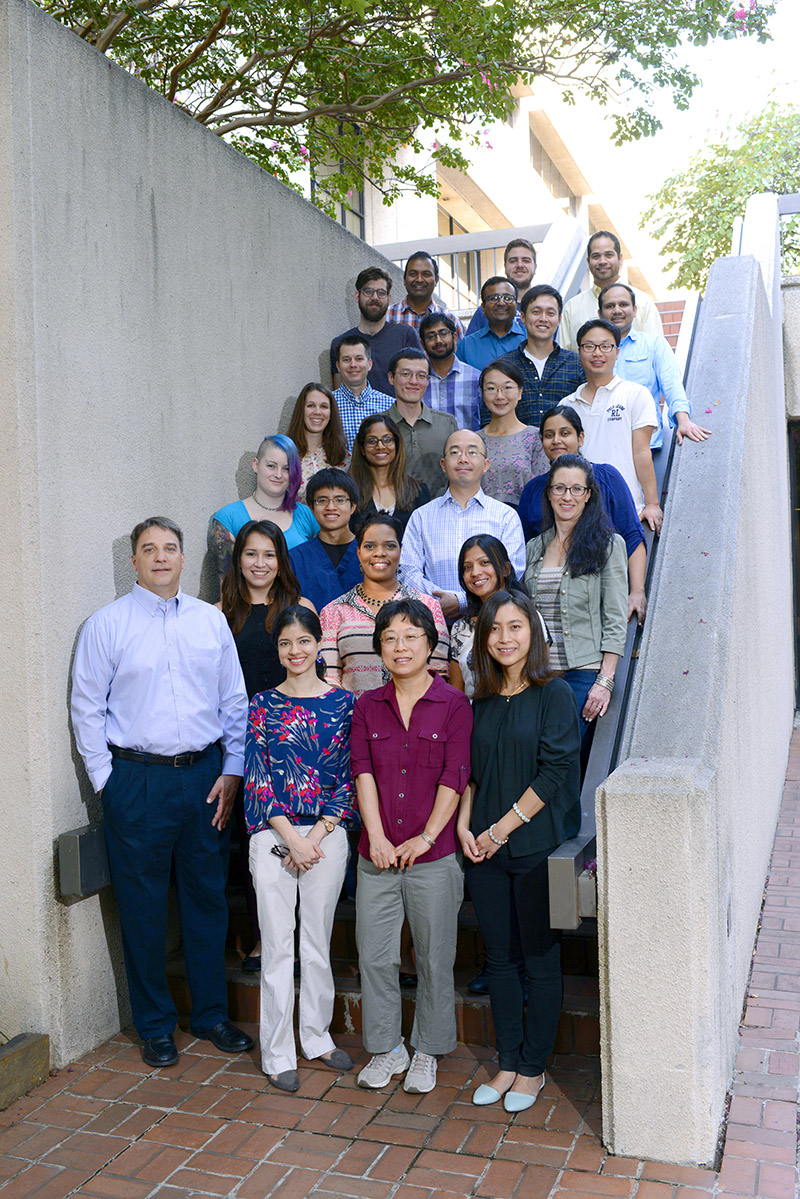 Group photo of the Kraus Lab, 2015