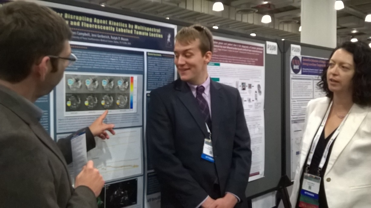 Devin O'Kelly presents his poster at 2016 WMIC in New York.
