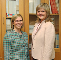 Mary Quiceno, M.D. and Barb Davis of the Alzheimers Disease Center