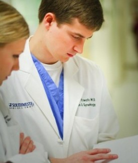 About one out of 50 OB/Gyn residents in the United   States trains at UT Southwestern.