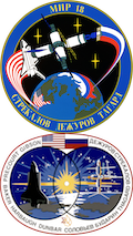 Mir-18 and STS-71Mission Badges