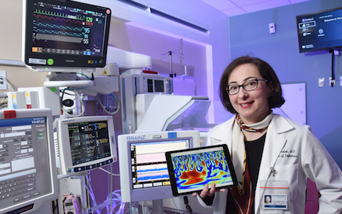 Weather-forecast tool adapted to evaluate brain health of