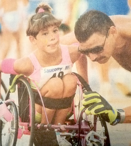 Darlene Hunter became active in wheelchair racing at age 7, three years after an accident crushed much of her spine. Ms. Hunter later played wheelchair basketball for Team USA in the 2012 and 2016 Summer Paralympics.