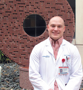 Austin Moore, a UT Southwestern Medical School student who will complete his third-year rotations in June