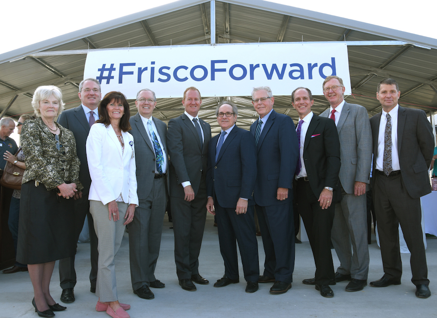 Texas Health Resources and UT Southwestern Medical Center joined with Frisco city leaders to mark a milestone in the construction of Texas Health Hospital Frisco.