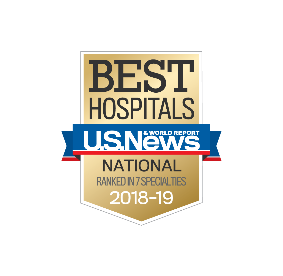 Ranked in 7 specialties by U.S. News