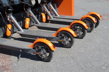 Decorative photo of electric scooters