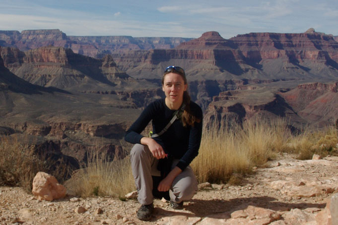 Dr. Anke Henning at the Grand Canyon