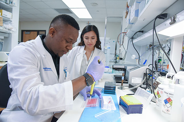 Trainees in a laboratory setting